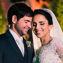 Simone e Marcelo, noivos.