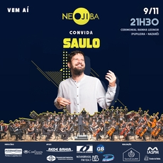 Neojiba Convida: Saulo e Orquestra Juvenil da Bahia se apresentam na Pupileira